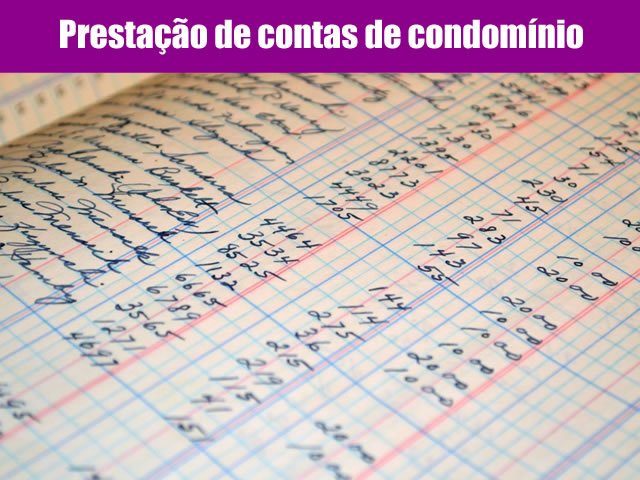 prestação de contas de condomínios